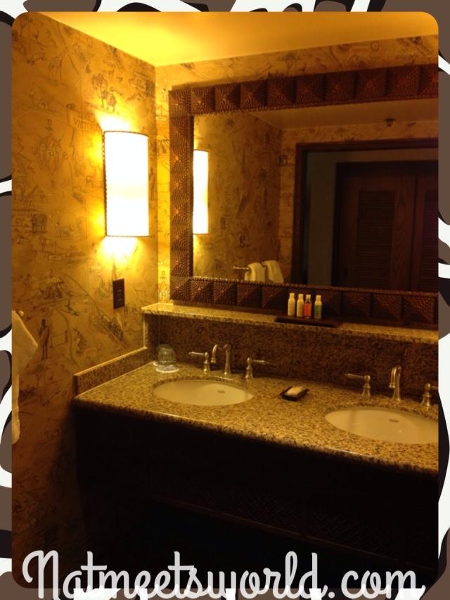 AKL sink area in guest room.