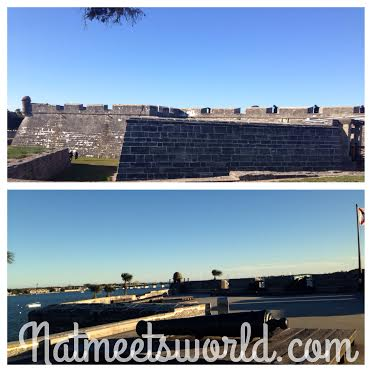 Top: Exterior of the fort, Bottom: Cannons above the fort.