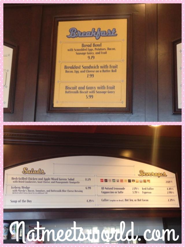 boardwalk bakery menu