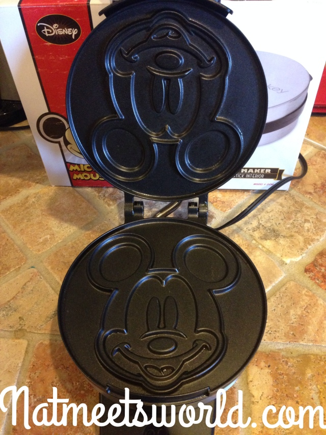 This is the inside of the waffle maker.