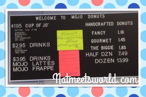 mojo donuts menu