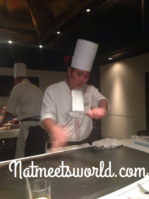 teppan edo chef cooking