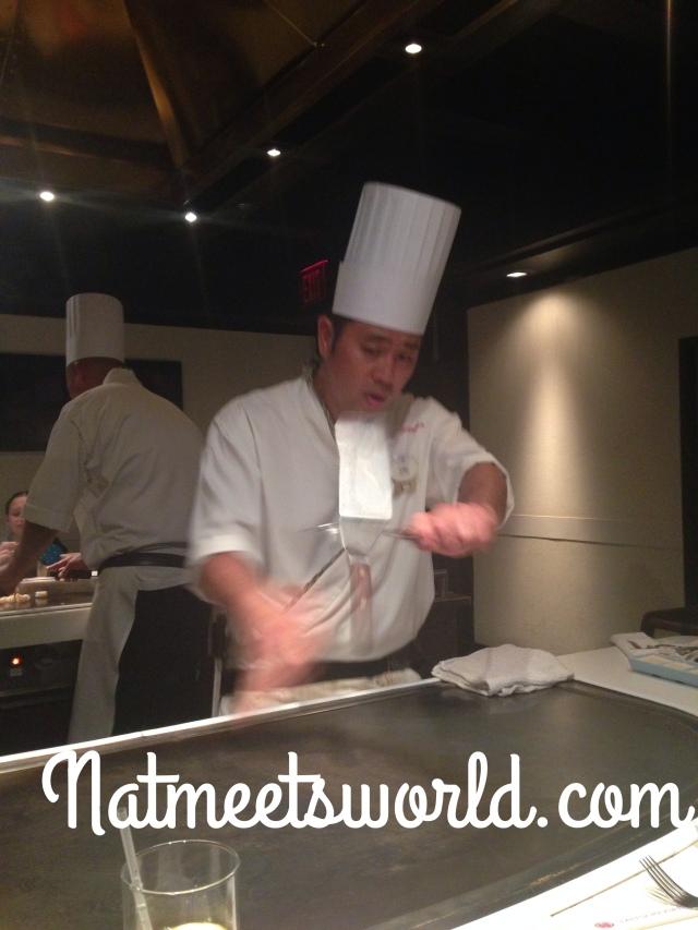 teppan edo chef cooking