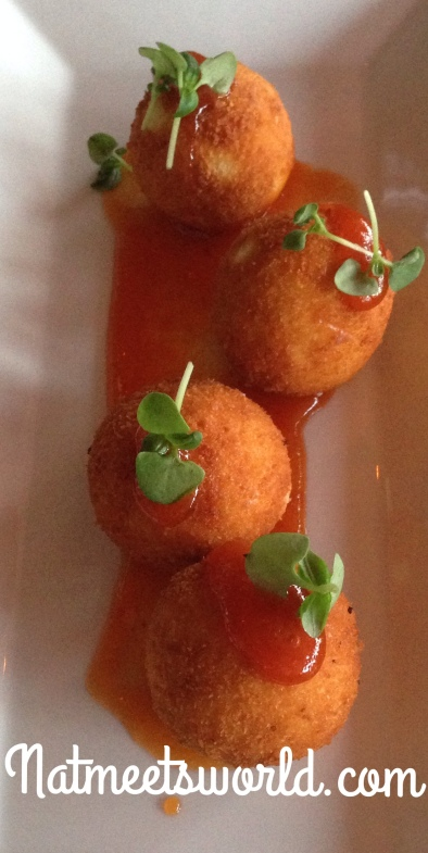 goat cheese croquettes close