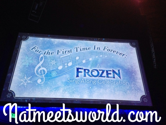 frozen singalong ad