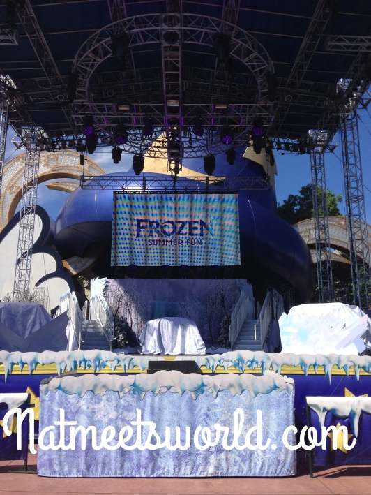 This is the main stage in front of the Sorcerer's Hat where most of the entertainment is held.