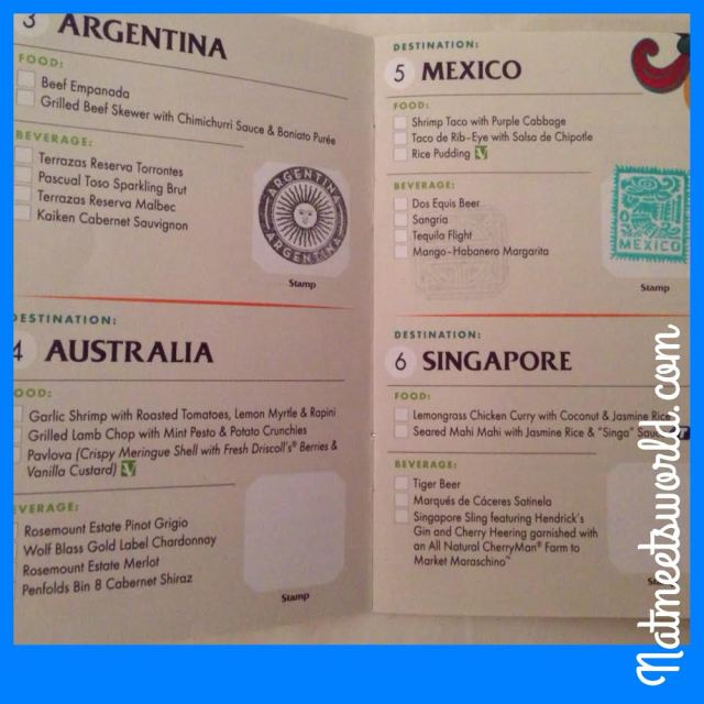 This is a page from the 2013 festival. As you can see, I visited Argentina and Mexico, and my passport was stamped!
