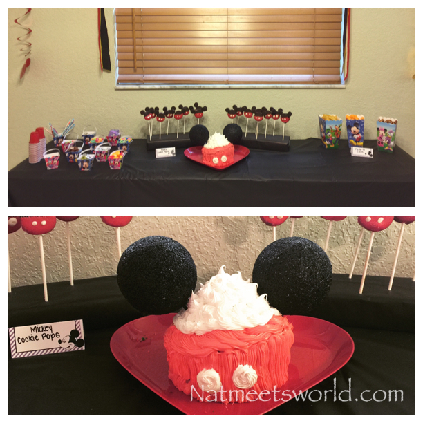 disney side dessert table