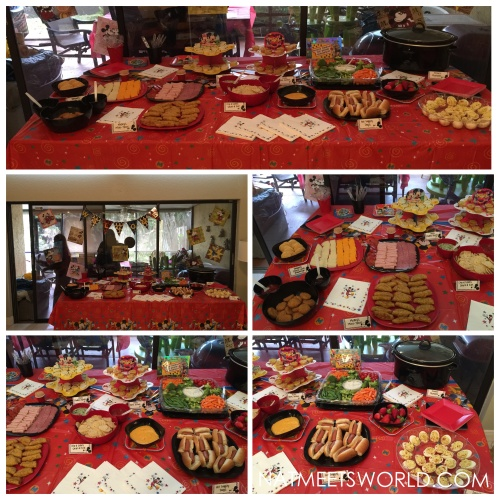 disney side party food table