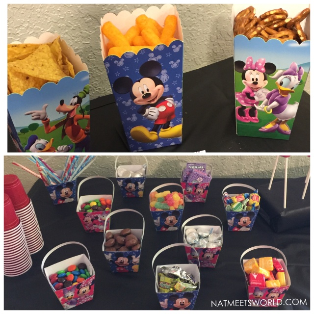 Disney Side party snacks