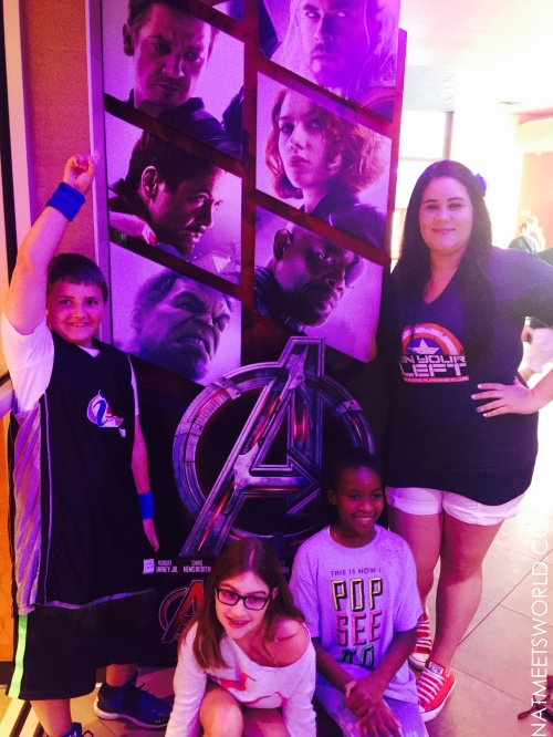 Some of my kiddos met up with me to watch the movie!  They loved it!