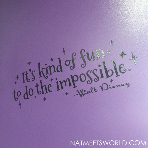 This quote was on the wall as soon as we walked into Escape the Quest!  Kinda perfect considering I am a Disney lover!