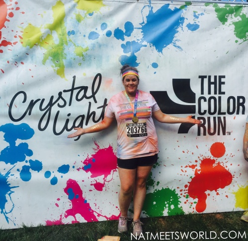 color run crystal light banner