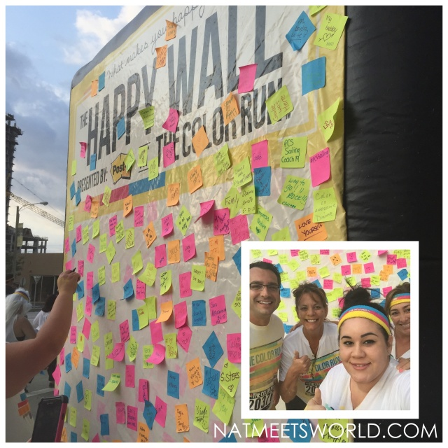 color run yellow zone post its