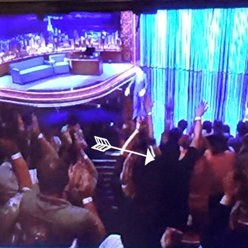 I spotted myself on the show!  See the girl with her hands up in the air?  That's me! =)