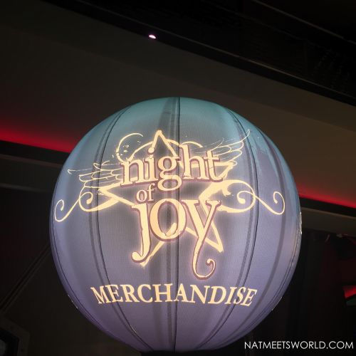 night of joy merchandise sign