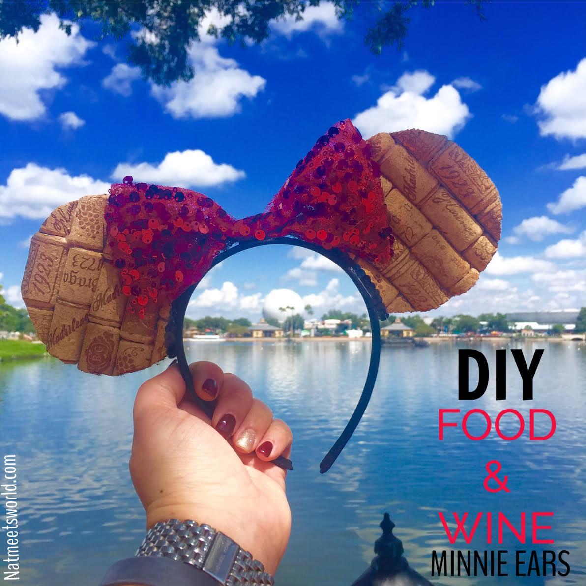 Diy Epcot Food Amp Wine Minnie Ears Nati Meets World