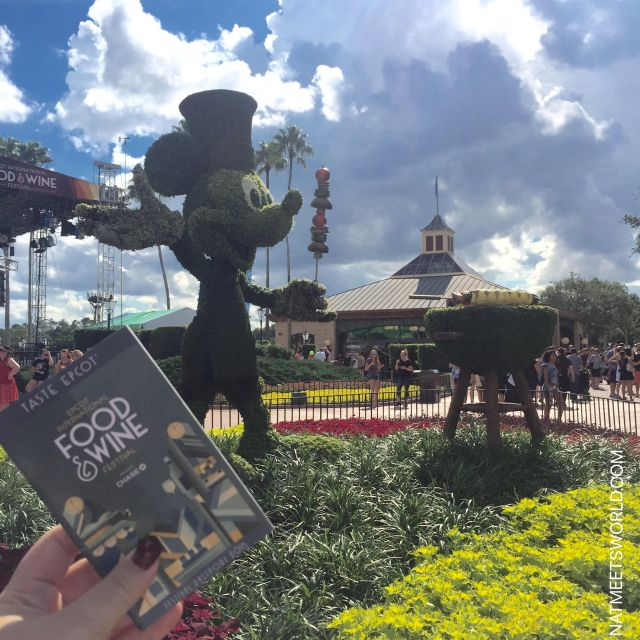 Epcot food and wine Mickey Topiary.jpg