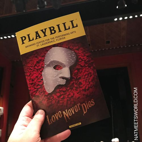 love never dies playbill